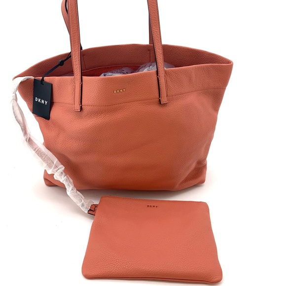 Dkny Handbags - DKNY Bowery Coral Large Tote & Clutch NEW